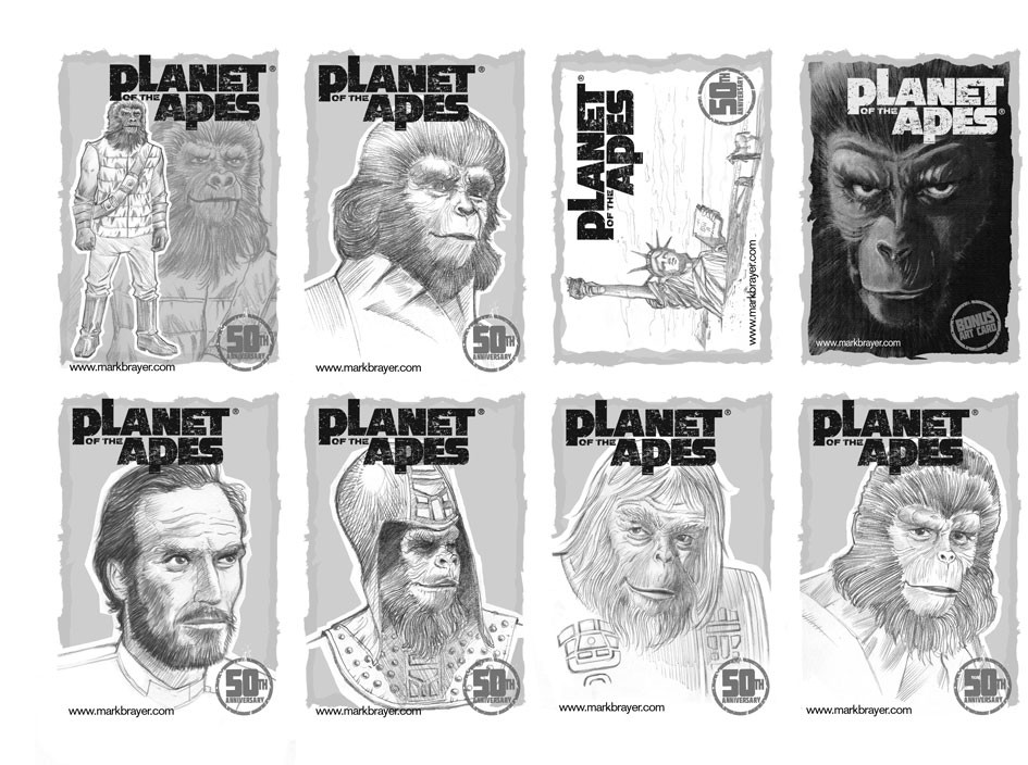 Planet of the Apes Sketch Cards