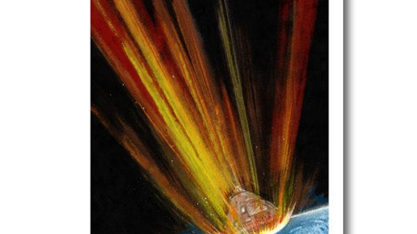 Retro Rocket: Apollo Re-Entry Poster