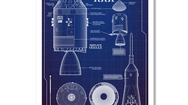 Retro Rocket: CSM Tech Poster