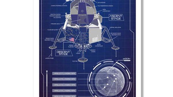 Retro Rocket: Apollo LEM Poster