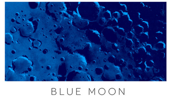 Retro Rocket: Blue Moon Poster