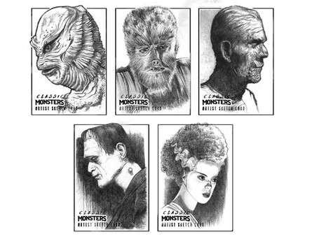 Classic Monsters Sketch Cards