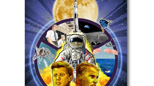 Retro Rocket: Apollo Celebration Poster