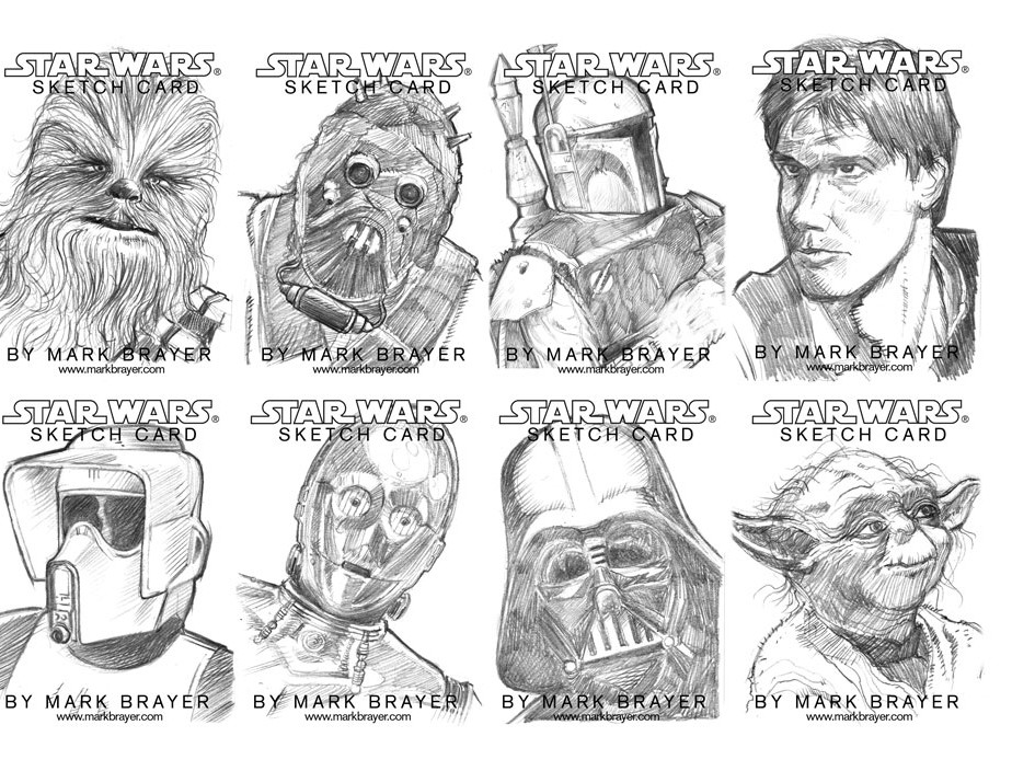 Star Wars Sketch Cards