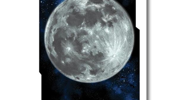 Retro Rocket: Moon Planet Poster