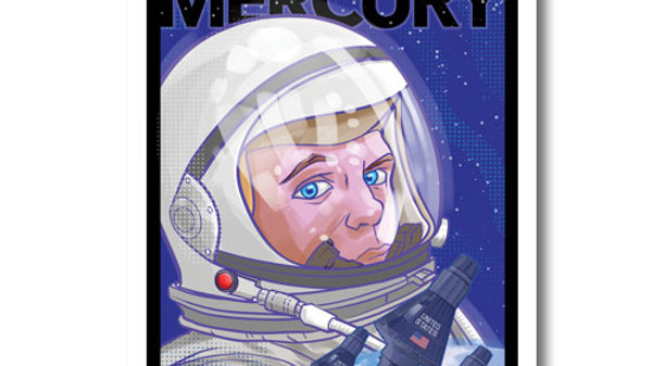 Retro Rocket: Project Mercury Poster