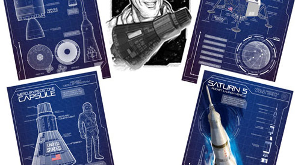 SPECIAL DEAL! Retro Rocket: NASA Poster Pack