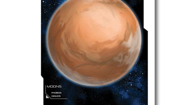 Retro Rocket: Mars Planet Poster
