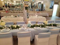 baby blue baby shower decoration