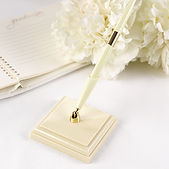 Wedding accessories ivory guestbook and pen set