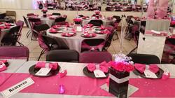 Black Butterfly pink birthday decor