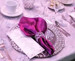 purple silver wedding crystal plate