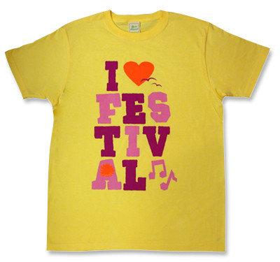 ロック・フェスティバルTシャツ「I LOVE FESTIVAL」