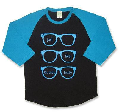 weezer(ウィーザー)【Buddy Holly】モチーフ七分袖ラグランTシャツ