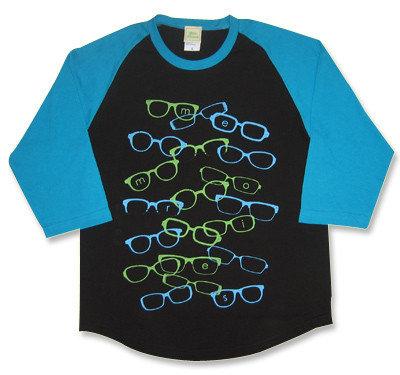 weezer(ウィーザー)モチーフ『memories』眼鏡七分袖ラグランTシャツ