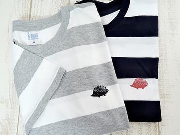 Walter Bosse.jpからハリネズミのボーダー半袖Tシャツが発売開始です