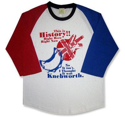 oasis(オアシス)モチーフ「History&Knebworth」七分袖ラグランTシャツ