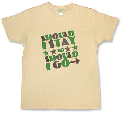 The Clash(クラッシュ)モチーフTシャツ【Should I stay or should】