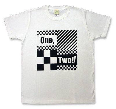 2 Tone(2トーン)モチーフ「ONE,TWO!!」Tシャツ