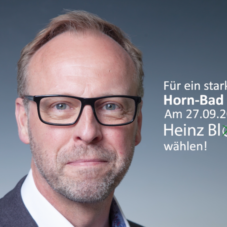 Wähle am 27. September Heinz Blome