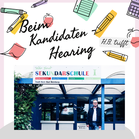H.B. trifft Schülerinnen und Schüler der Sekundarschule Horn- Bad Meinberg beim Kandidaten-Hearing.