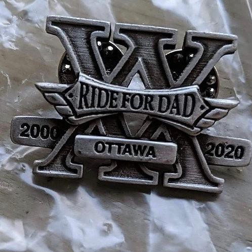 20 year anniversary vest pin
