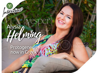 "VESPER - Interview with Alysia Helming: ""Protogenesis"" now in Greek"