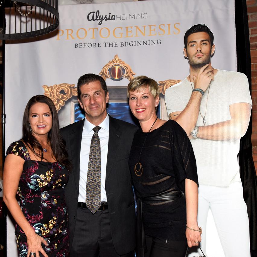 Author Alysia Helming, along with the Consul of Greece in San Francisco, Antonios Sgouropoulos and his wife Tamara Sgouropoulou