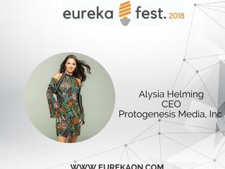 Alysia Helming (She-eo) speaker at the Eureka Fest 2018