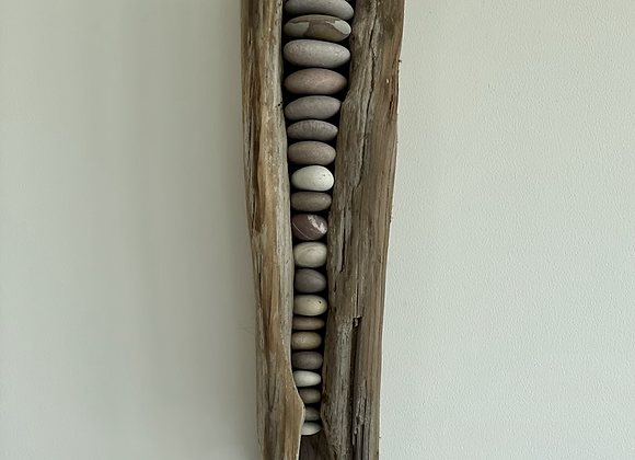 Driftwood and Pebbles Wall Art
