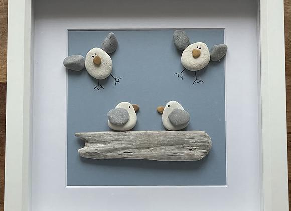 Family of Four Seagull Artwork