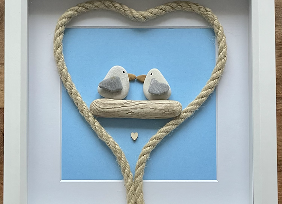 Kissing Seagulls Artwork