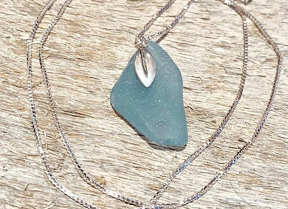 Light Blue Seaglass Necklace