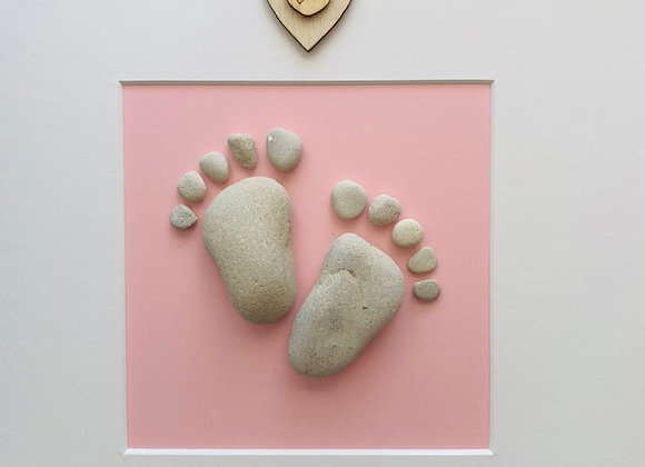 Baby Feet Pebble Artwork
