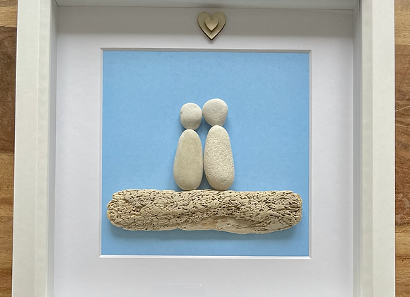Couple Pebble Artwork