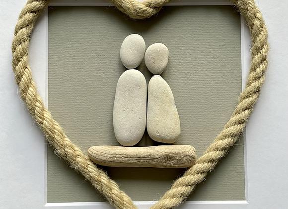 Couple Pebble Artwork