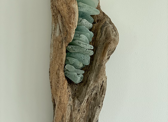 Driftwood and Sea Glass Wall Art
