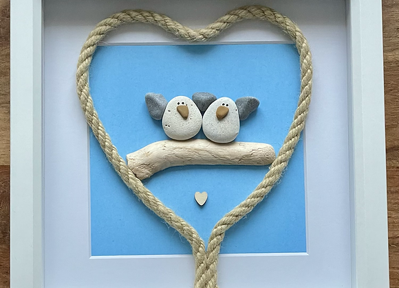 Happy Couple Seagulls Artwork
