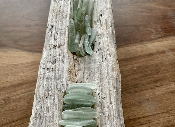 Driftwood Wall Art with Sea Glass
