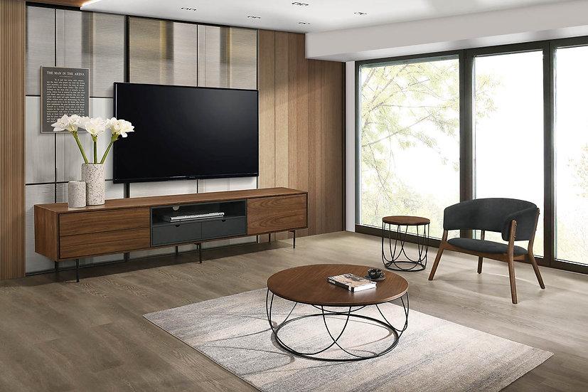 Mueble TV Milán de 200cm en nogal natural
