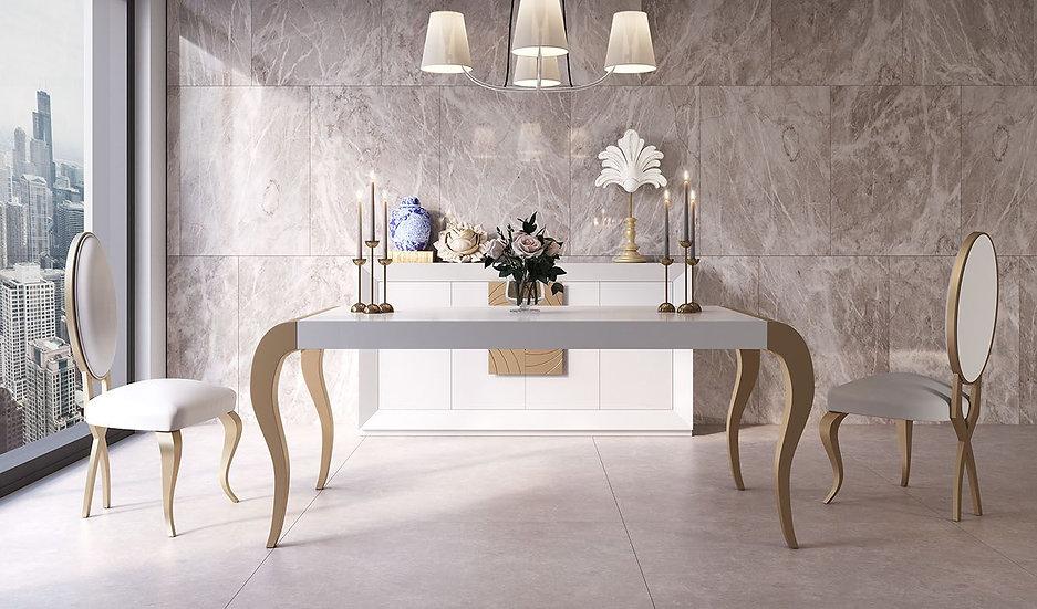 Mesa de comedor clásica oferta Franco Furniture PR10