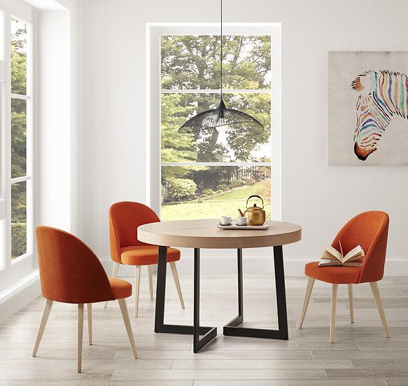 Mesa redonda pata diseño 525 fija o extensible