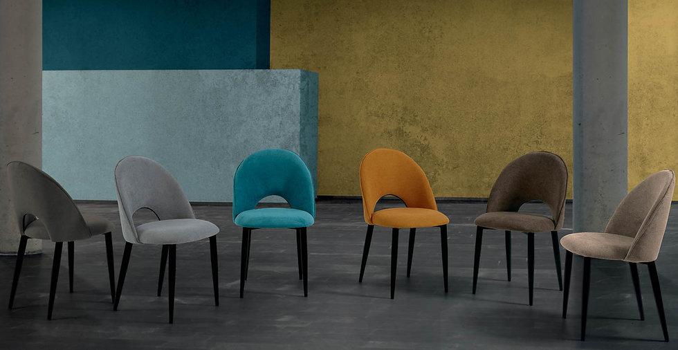 Silla Castelmezzano varios colores de tapizado