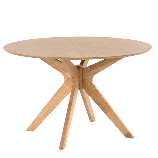 Mesa de comedor oferta redonda nórdica Reine en roble o nogal