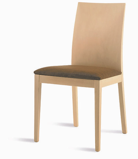 Silla respaldo madera asiento tapizado 234 tela antimanchas Aquaclean a