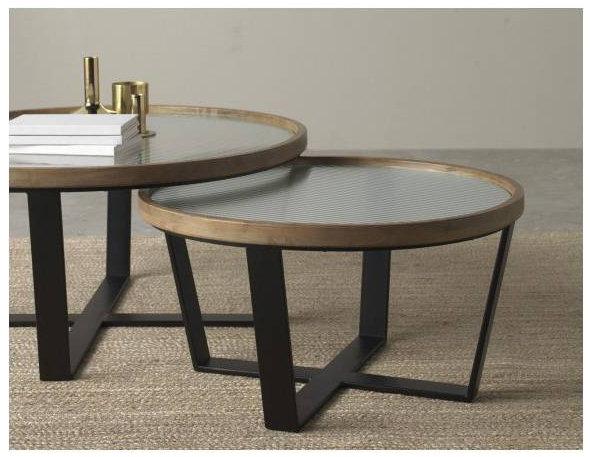 Set 2 mesas centro redondas 10041