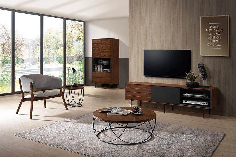 Mueble TV Milán de 170cm en nogal natural