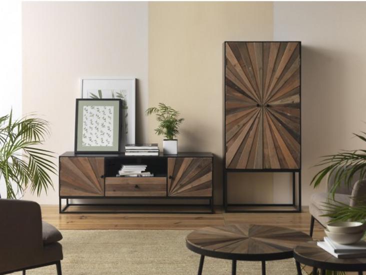 Mueble de TV industrial 10223 de 140cm