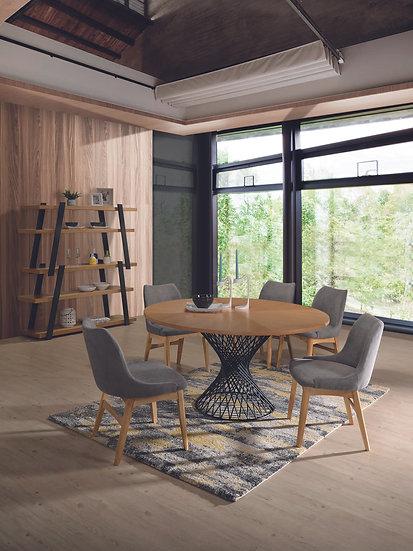Mesa de comedor redonda Oslo en roble natural