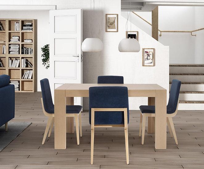 Mesa de comedor rectangular 901 fija o extensible